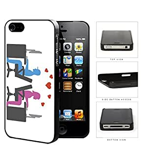 Social Media Computer Nerd Lovers Hard Plastic Snap On Cell Phone Case Apple iPhone 4 4s