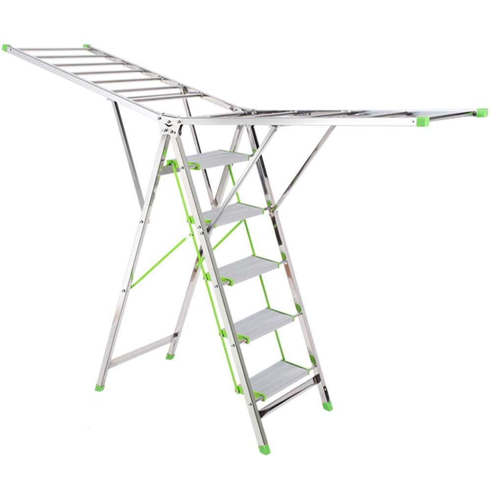 はしご乾燥ラック二重目的の多機能床屋内乾燥キルトステンレス鋼の折りたたみ自宅4または5ステップはしご (サイズ さいず : 86cm) B07CZTNG7T 86cm  86cm