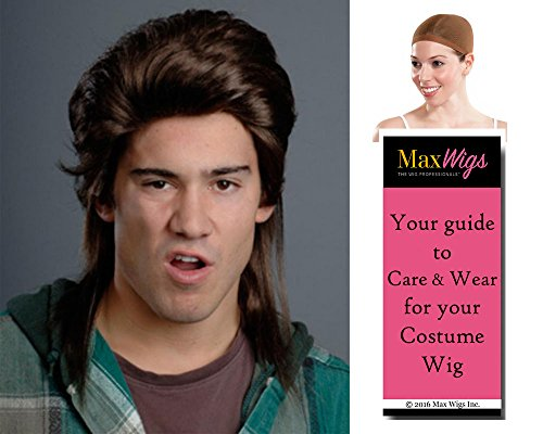 Joe's Mullet Joe Color Brown - Enigma Wigs Men's Trailer Trash Billy Ray Cyrus Dirt Bundle With Wig Cap, MaxWigs Costume Wig Care Guide -