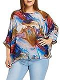 Fendxxxl Women's 2018 Summer Loose Casual Batwing Tops Chiffon Blouse Floral Shirt Tunics 4322