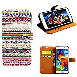 Zaki- Tribe Style Drawing Pattern PU Leather With Card Slot for Samsung S5 I9600