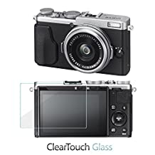 Fujifilm X70 Screen Protector, BoxWave® [ClearTouch Glass] 9H Tempered Glass Screen Protection for Fujifilm X70
