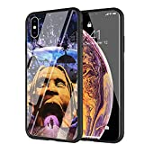 YZSGP AA-261 Travis Scott Astroworld Phone Case for iPhone XR, Tempered Glass Back Cover with 360 Degree Full Strong Protection