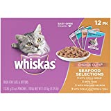 WHISKAS CHOICE CUTS Seafood Selections Variety Pack Wet Cat Food 3 Ounces (Box Of 4, 12-Count Each)