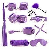 7PCS Handcuffs in Bed and Eye Shield Accessories for couple,Bed Restraints Set