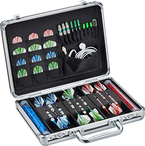 Casemaster Legion Aluminum Dart Case Holds 9 Steel Tip and Soft Tip Darts with Extra Space to Keep...