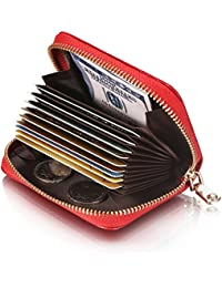 Genuine Leather Card Holder Wallet Small Purse For Women & Men