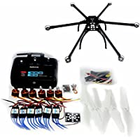 QWinOut DIY Drone Multicopter ARF : Six-axle Folding Hexacopter Aircraft Unassembled Frame Kit + QQ SUPER Control Board Version + 6CH TX&RX + ESC + Motor