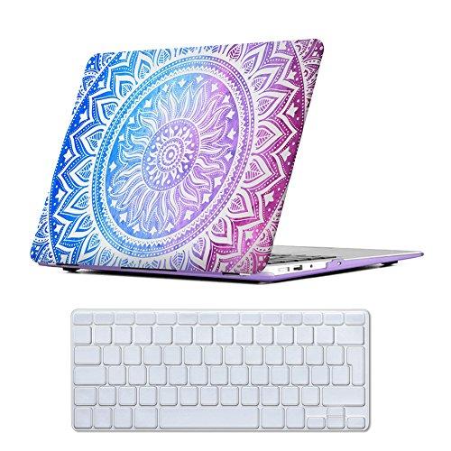 MacBook Air 13 Case Purple , iCasso Medallion Pattern Ultra Slim Plastic...