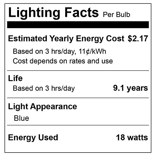 2 Pack BlueX LED Par38 Flood Blue Light Bulb - 18W (120Watt Equivalent) - Dimmable - E26 Base Blue LED Lights, Party Decoration, Porch, Home Lighting, Holiday Lighting, Blue Flood Light
