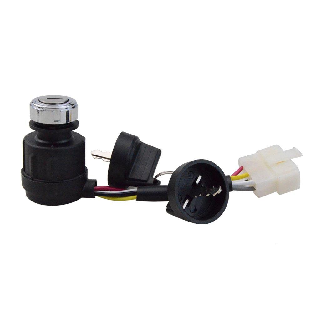 GOOFIT 5 wire Ignition Key Switch with Cap for 50cc 70cc 90cc 110cc 125cc 150cc ATV Go-Kart