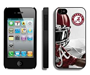 Popular And Durable Custom Designed Case For iPhone 4 With Southeastern Conference Sec Football Alabama Crimson Tide 6 Black Phone Case