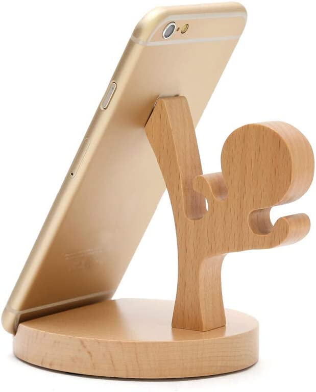 Cute Cell Phone Stand 30 Piece MHKBD Wooden Phone Stand Cell Phone Holder Desktop Cellphone Stand Universal Desk Stand for All Mobile Smart Phone Elk Great for Personal Use or As a Gift