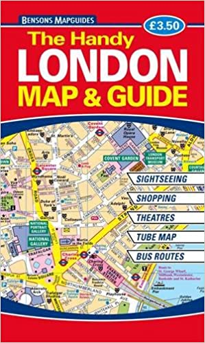 Sightseeing Map Of London.The Handy London Map And Guide Amazon Co Uk Bensons Mapguides