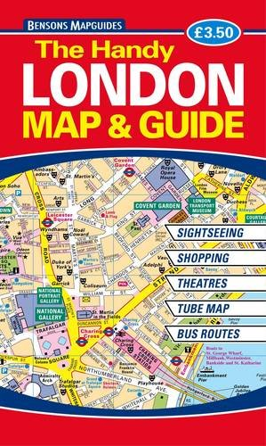 the handy london map and guide amazoncouk bensons mapguides 8601200866537 books