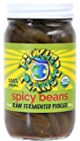 Raw Pickles, ''Spicy Beans'', 16 Oz Glass Jar