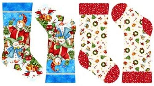 Northcott Winter Magic Snowmen Novelty Christmas Stocking Quilting Fabric Panel