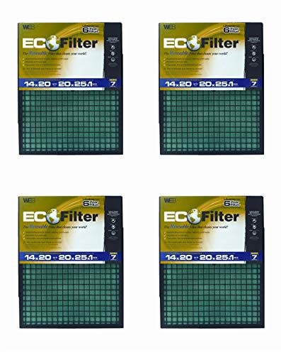 WEB Eco Filter Adjustable, 6 Year (Pack of 4) by WEB