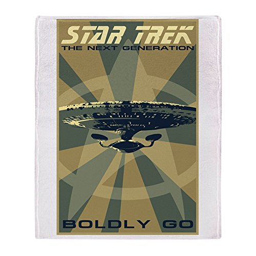 CafePress Retro Star Trek: TNG Poster Soft Fleece Throw Blanket, 50