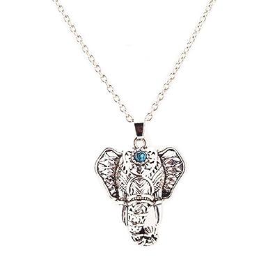 Izubizu london vintage elephant head pendant silver plated blue izubizu london vintage elephant head pendant silver plated blue stone aztec necklace free gift box aloadofball Images