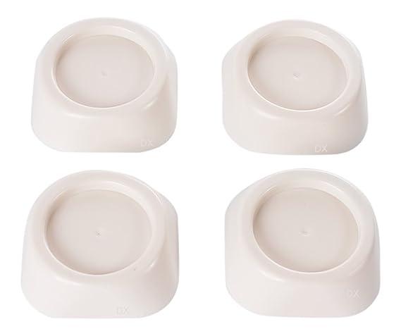 DREHFLEX – Set de 4 amortiguadores de vibración para lavadoras – pies de caucho para lavadora/secadora