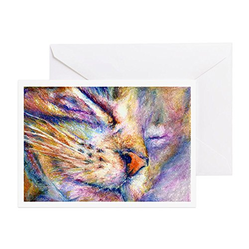 CafePress - Sleeper Cat - Greeting Card (10-pack), Note Card with Blank Inside, Birthday Card Matte ()
