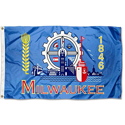 Sports Flags Pennants Company City of Milwaukee Flag 3x5 Foot ()
