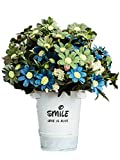 CL Artificial Fake Silk Rose Sunflower Gerbera With Iron Pot For Home Kitchen Garden Living Room Hotel Office Party Decorations Or As Festival Birthday Gift (Color 16)