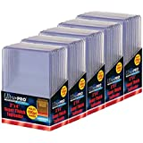 5 Ultra Pro 130pt Top Loader Packs - 10 Toploaders Per Pack (50 Total) - Thick Baseball, Basketball, Hockey, Football Cards (Ie Memorabilia)