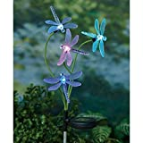 Amscan 2 Solar Power Dragonfly Sets - Color-Changing Stake One Size
