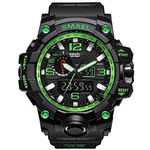 (SMAEL Men's Sports Analog Digital Quartz Military Watch Waterproof Multifunctional Large Dial Wrist Watch for Men)