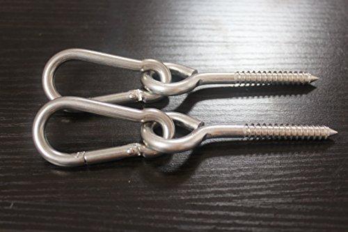 MHMYDZ 600lbs Capacity Premium Hammock Hanging Kit Heavy Duty,Durable Hammock Hooks/&Carabiners for Hammock Stand,Yoga/&Brazilian Hammocks,Swing Chair,Multiple Indoor /& Outdoor
