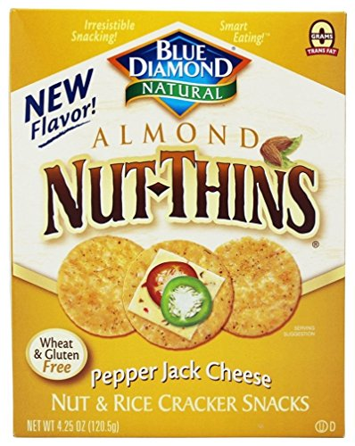 Blue Diamond Nut-Thins Almond Nut-Thins, Pepper Jack 4.25 oz (Pack of 3) by Blue Diamond Almonds