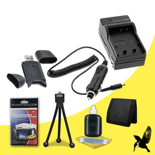 Halcyon Brand 600 mAH Charger with Car Charger Attachment Kit + Memory Card Wallet + SDHC Card USB Reader + Deluxe Starter Kit for Nikon Coolpix S100, COOLPIX S2600, COOLPIX S3100, COOLPIX S3300, COOLPIX S4100, COOLPIX S4300, Coolpix S6400, COOLPIX S6500