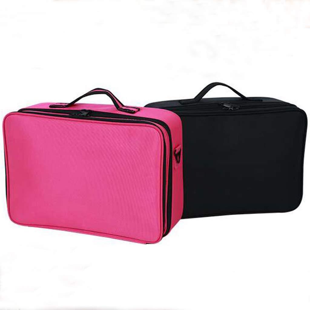 OWNFSKNL 大容量旅行バッグ防水化粧品袋 (Color : ブラック)  ブラック B07MXK19SB