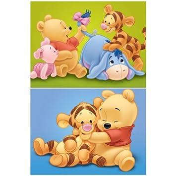 2er Set Baby Winnie Pooh Bilder Auf Keilrahmen 30x40 Kinderzimmer Bilder Set Q
