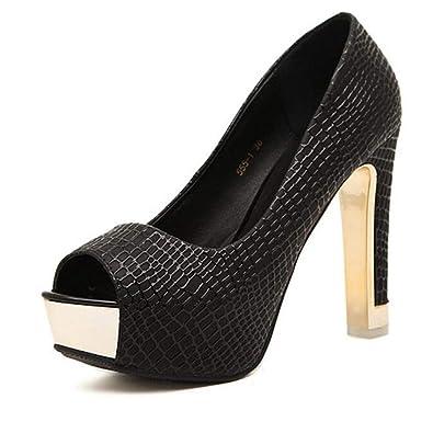 uk availability 9e453 e3327 Amazon.com | BestLifes Women Pumps Platform High Heels Shoes ...
