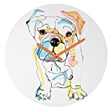 Deny Designs Casey Rogers, Bulldog Color, Round Clock, Round, 12″ For Sale