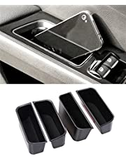 VESUL 4pcs Door Side Storage Box Fit for Ford Fusion 2013 2014 2015 2016 2017 2018 2019 2020 Armrest Phone Container Door Organizer Handle Pocket ABS Tray Insert Glove Pallet