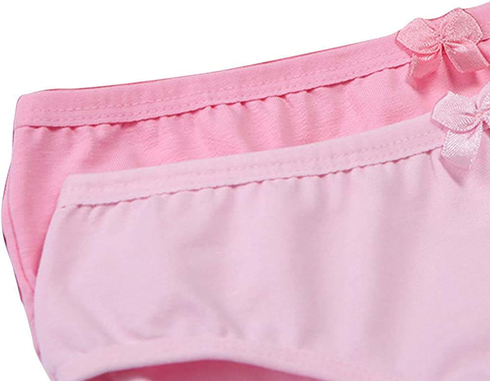 Serecofo Lot de 3 Culottes Slips Fille Fillette Enfant en Coton sous-V/êtement Lingerie 1-13 Ans Doux et Mignon