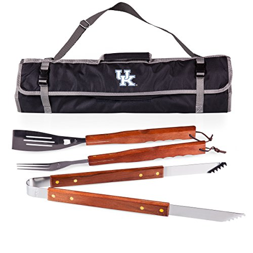 NCAA Kentucky Wildcats 3-Piece BBQ Tool Set With Tote