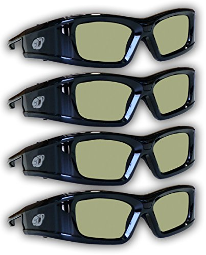 51EgtS4Vn L - SAMSUNG 4 PACK Compatible eDimensional RECHARGEABLE 3D Glasses for 2011-15 Bluetooth 3D TV's