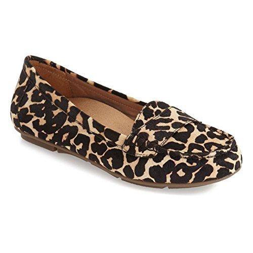 Talla De Mujeres Piso Bronceado Sandalias Leopardo Softwalk nq0UxwfIx