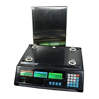 Báscula digital Deli de 40 kg para alimento y carne, para computar pesos digitales: Amazon.es: Amazon.es