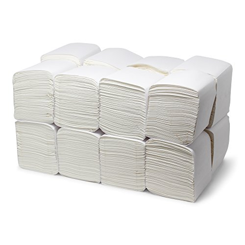 """Economy Beverage Napkins Bulk - 1-ply White Cocktail Napkins 9"""" x 9"""" - Case of 4000 (250 per pack, 16 packs) - Paper Drink and Dessert Napkins for Restaurants, Bars, and Catering - Paterson Paper"""