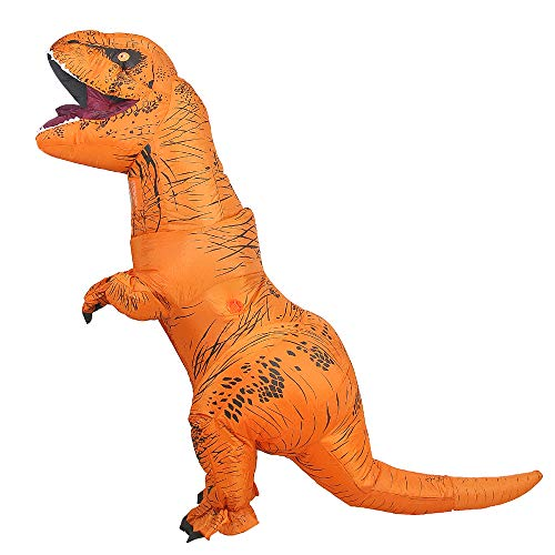 Inflatable T-Rex Costume Adult with Exclusive Drawstring Bag Double Zippers Dinosaur Halloween Costume for $<!--$45.99-->