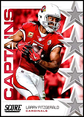 2019 Score NFL Captains #1 Larry Fitzgerald Arizona Cardinals Official Football Card made by Panini