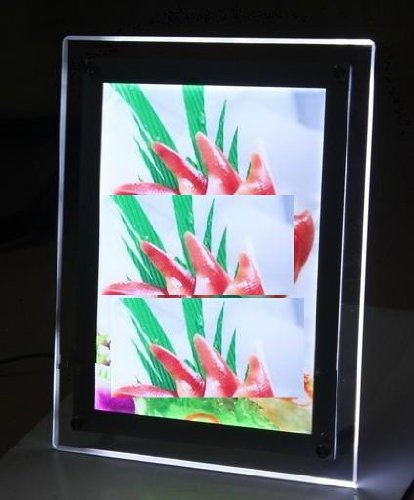 Gowe A4 size Stand Crystal LED Photo Frame ,high quality light box 5 Pcs by Gowegroup LED Light Box
