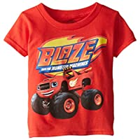 Camiseta de manga corta para niños pequeños de Blaze and the Monster Machines, rojo, 4T