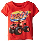 Nickelodeon Blaze and The Monster Machines Little Boys' Toddler Short Sleeve T-Shirt, Red, 3T